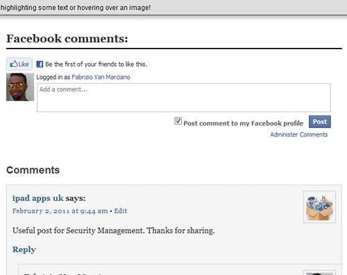 Facebook comment WordPress