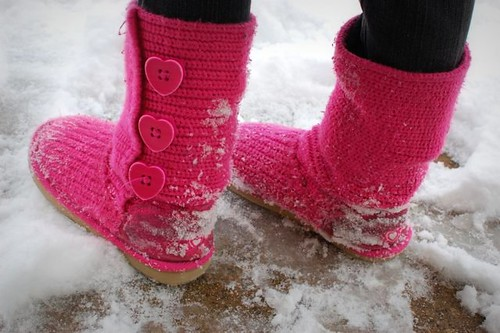 what they wear : THE pink boots!