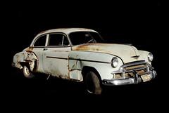 1950 Chevrolet Deluxe (Curtis Gregory Perry) Tags: auto original black chevrolet car oregon vintage dark de nikon rust automobile background deluxe rusty mobil dent chevy rusted motor wreck 50 1950 luxe patina junker automvil dented xe d300 automobil     samochd  kotse  otomobil   hi   bifrei  automobili   gluaisten