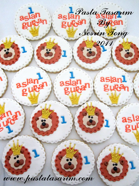 1st BIRTHDAY LION COOKIES