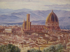 Florence (detail) by Edward Lear (Martin Beek) Tags: italy detail macro art closeup museum painting landscape florence details fineart victorian surface study arno technique tutorial masterpiece preraphaelite edwardlear paintingdetail historyofart victorianart victorianartists artupclose artexamined