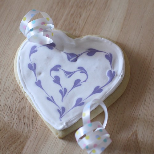 double heart cookies