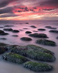 The Stepping Stones (Anne Adams Photography - LRPS, BPE2* AFIAP) Tags: sunset beach rocks norfolk cliffs hunstanton dapagroup dapagroupmeritaward3 dapagroupmeritaward1 amaphotographycouk