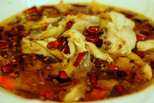 Boiled Sea Bass with Sizzling Chilli Oil