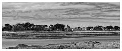 Face à la Mer (Yo Gui) Tags: noir et blanc plage homme rivage croisic france mer océan atlantique