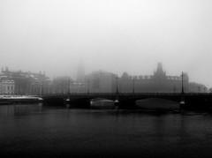 Stockholm in the fog (ngbrx) Tags: sweden schweden stockholm fog nebel winter bridge brücke stadt city water wasser