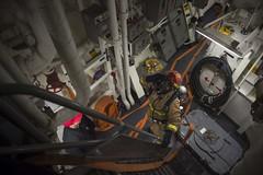 170701-N-FQ994-077 (CNE CNA C6F) Tags: ussrossddg71 ddg71 ross sailors norwegiansea itt firefighters investigators generalquarters