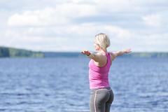 lakeside yoga (VisitLakeland) Tags: jooga joga yoga lakeland finland wellness hyvinvointi relax rentoutuminen balance tasapaino harmony harmonia lake järvi shore ranta beach blue