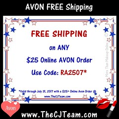 July Free Shipping with AVON (cjteamonline) Tags: avon avoncouponcodes cjteam couponcodes finalday freeavon freeshipping goingfast julyfreeshipping lastday limitedquantities limitedtime onedayonly onetimeuse onlinepromotion orderavononline ordertoday promotion ra2507 sale thecjteam today whilesupplieslast
