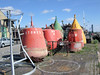 Buoys At Purfleet Quay By The River Ouse, King's Lynn -  Norfolk. (Jim Linwood) Tags: river norfolk ouse buoys kingslynn buoyant purfleetquay
