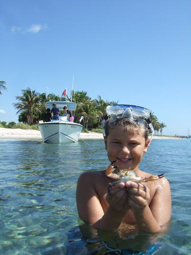 Jagger catches a big crab