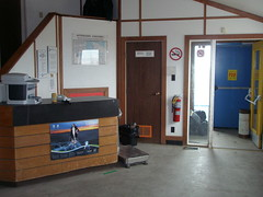 Aklak Air check-in counter at the Sachs Harbour Airport (jimbob_malone) Tags: northwestterritories 2010 sachsharbour