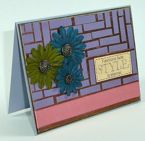 Mosaic tiled card - 1