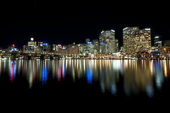 Darling Harbour at Night (funkysuite) Tags: city water night buildings nikon long exposure harbour sydney relection darling 10mm d90 dsc2487pure