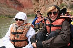 Grand Canyon (Ann Kruetzkamp) Tags: trip girls red two arizona cold newmexico water weather female river boat women colorado whitewater tour lasvegas grandcanyon nevada grand canyon rafting coloradoriver redrock crate lifejacket rainjacket expeditions coloradoriverandtrailexpeditions
