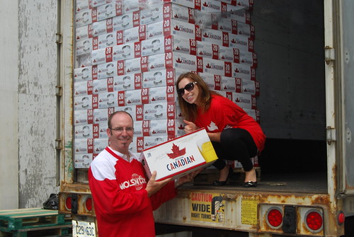 Canada Day Beer Delivery for Canadian Forces
