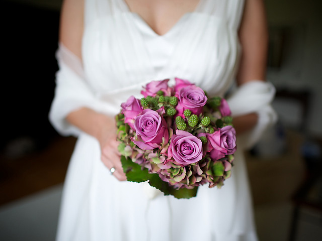 bouquet with bokeh