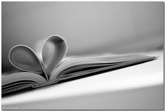 Unread books... (aviana2) Tags: stilllife reading book heart anniversary mother memory corazn blackwhitephotos aviana2 sonyalpha350 thechallengefactory fotocompetition fotocompetitionbronze fotocompetitionsilver