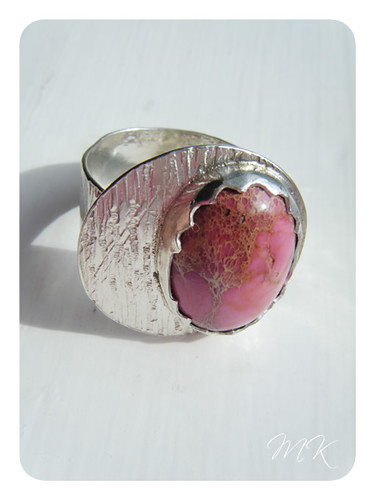 pink sea sediment jasper ring 2