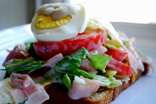 Open Face Chef Salad Sandwiches
