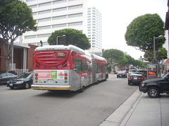 Line 733 in Santa Monica (LA Wad) Tags: california publictransit publictransportation metro santamonica transportation transit mta masstransit southerncalifornia artic brt nabi busrapidtransit masstransportation losangelescounty lacmta rapidbus articulatedbus northamericanbusindustries downtownsantamonica mass1 60brt