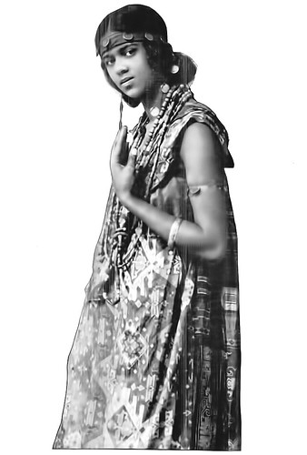 Miss Bessie Moore as Ethiopia in Trenton, New Jersey HS Pageant - Crisis Magazine, August, 1918
