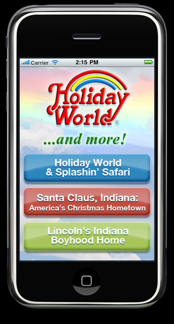 Holiday World's iPhone app