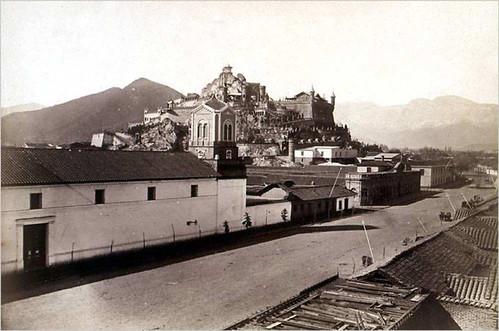 desde santa rosa, el convento de Santa Clara, el cerro santa Lucia y la alameda 1874
