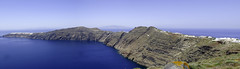 Santorini Panoramic (Adam Witwer) Tags: seascape landscape island cliffs santorini greece oia aegeansea
