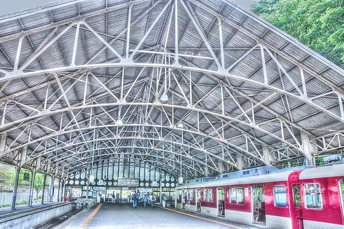 Kintetsu Yoshino station / HDR