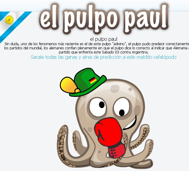 Pulpo Paul puñetes