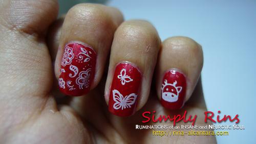 Konad Stamping Nail Art 008