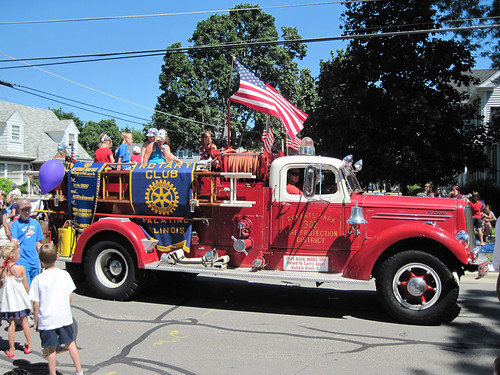 Old Fire Truck in Parade