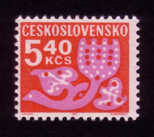 Ceskoslovensko 5.40k stamp (1972)