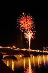 DSC_0079 (georgerocheleau) Tags: arizona reflection water night fireworks tempe tempetownlake
