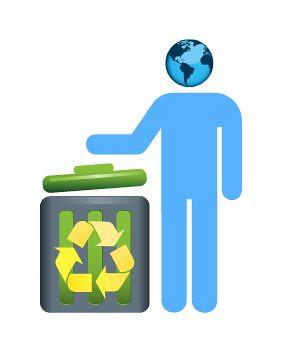recycling world man