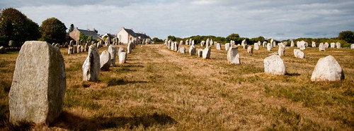Carnac's famous standing stones are around 30km west of Vannes. Photo: Kewei Shang