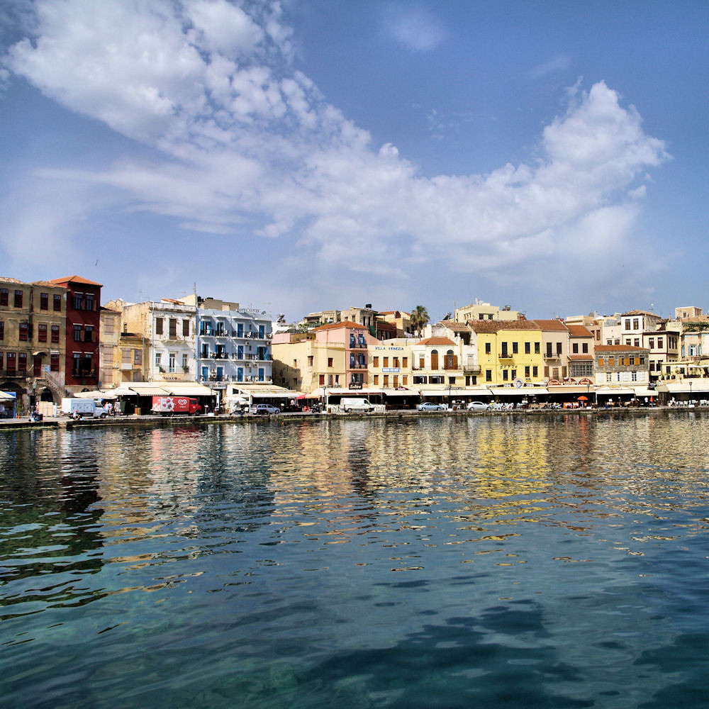 Chania Waterfront in Crete, Greece