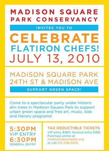 Celebrate Flatiron Chefs '10 Flyer
