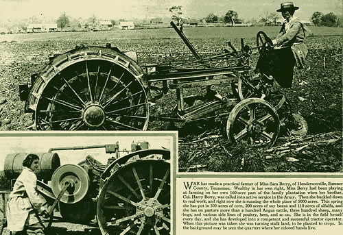 Women farming during World War I
