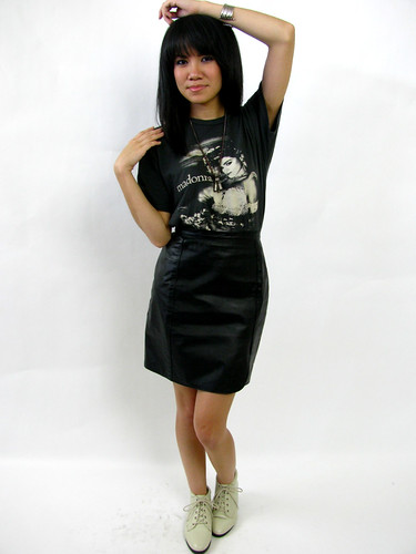 VINTAGE 80's MINI LEATHER SKIRT