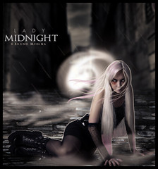 Lady Midnight . ( Bruno Medina) Tags: art make lady dark background chuva midnight neblina reflexos cabelo iluminao meianoite reconstruo