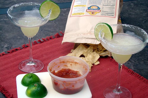 limes, chips, and salsa