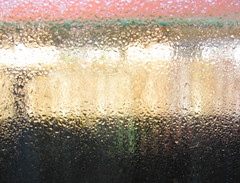 condensation (Foot Slogger) Tags: shadow abstract window water fence waterdrops