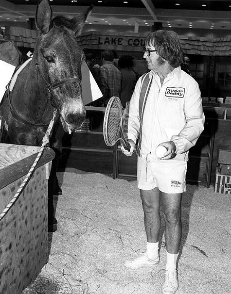 Bobby Riggs and mule