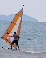 Greg Trying to Windsurf