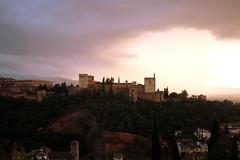 Blick auf die Alhambra, Ganada, Andalusien