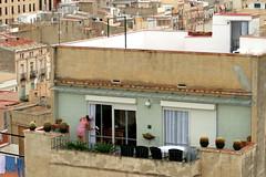Blick über die Dächer von Tarragona, Katalonien