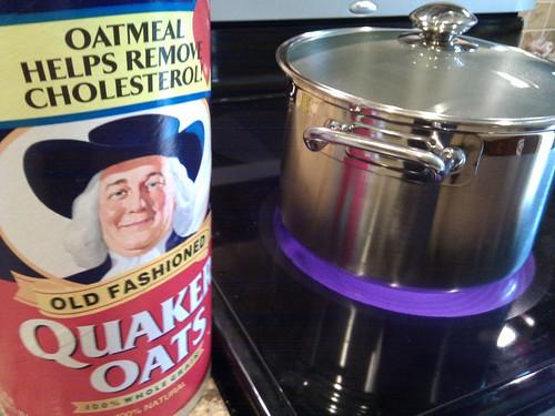 Making Oatmeal for the Week