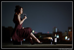 Lonely Night (Ilko Allexandroff (a.k.a. sir_sky)) Tags: light portrait people woman slr art girl fashion japan umbrella canon dark hair photography google interesting glamour women emotion good feminine awesome flash www explore more most kobe portraiture mostinteresting osaka dslr   sannomiya   naniwa ilko  50d   strobist canon50d   beautyshoots allexandroff   imghp